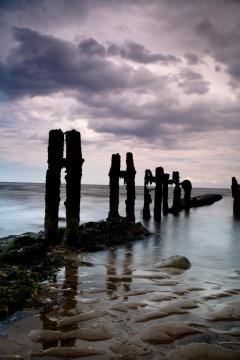Beach at Sandsend by Deb Fletcher